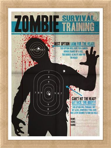Framed Framed Aim for the Head! - Zombie Survival Training