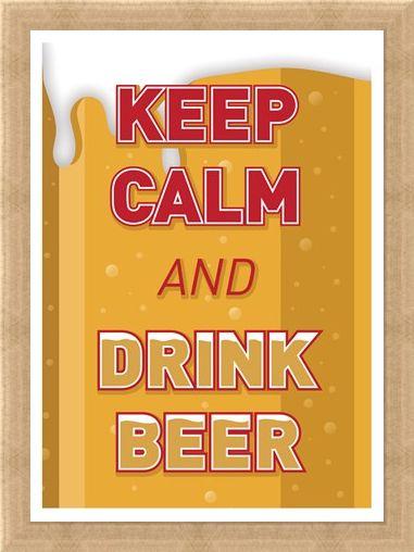 Framed Framed Keep Calm & Drink Beer - Keep Calm & Carry On