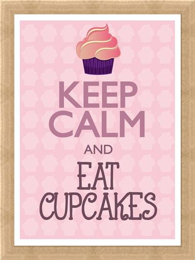 Framed Framed Keep Calm & Eat Cupcakes - Keep Calm & Carry On