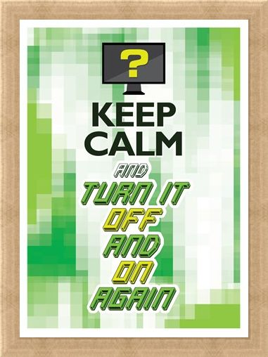 Framed Framed Keep Calm & Turn It Off & On Again - One Solution