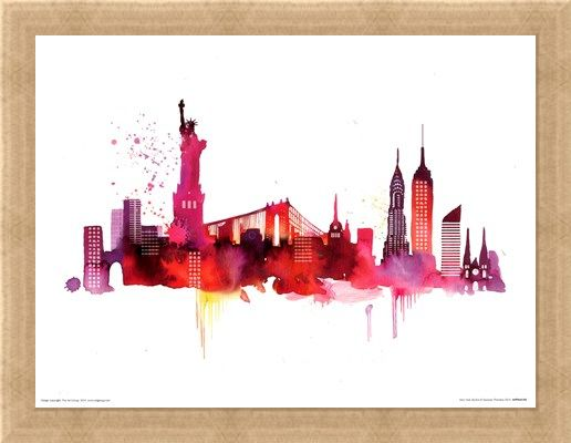 Framed Framed New York Skyline - Summer Thornton