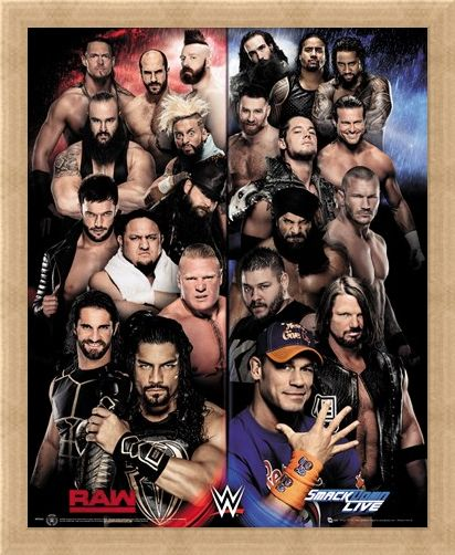 Framed Framed Raw VS Smackdown - WWE