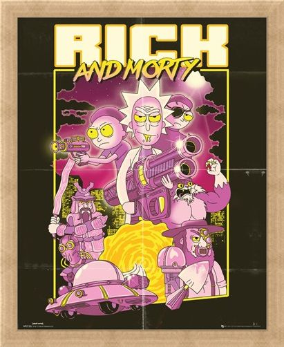 Framed Framed Action Movie - Rick and Morty