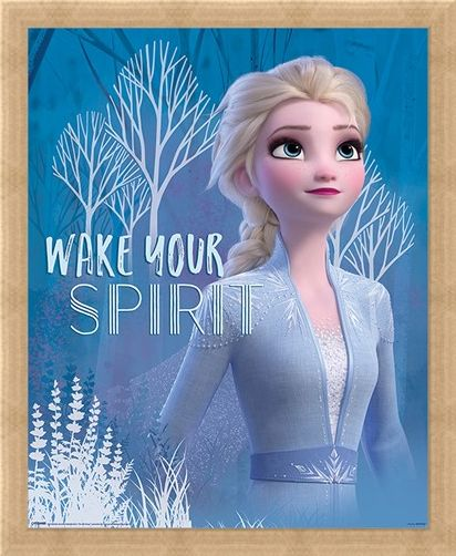 Framed Framed Wake Your Spirit Elsa - Frozen 2