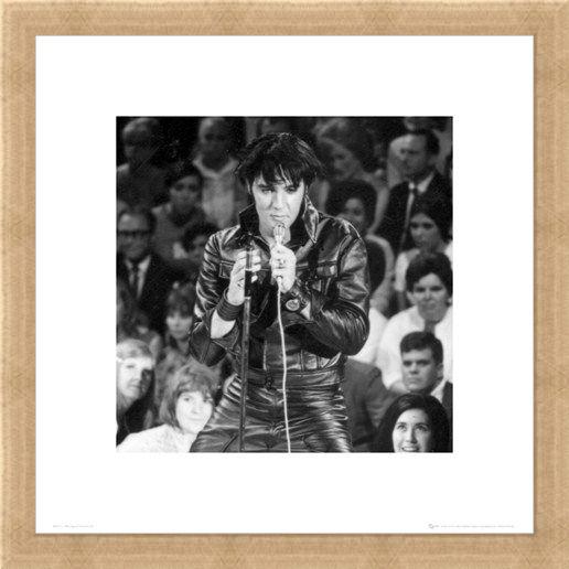 Framed Framed The King in Leather! - Elvis Presley