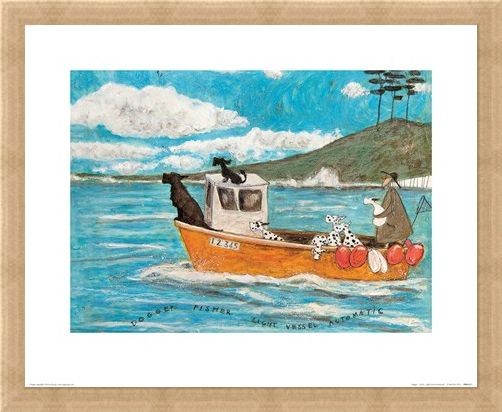 Framed Framed Dogger, Fisher, Light Vessel Automatic - Sam Toft