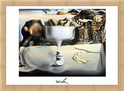 Framed Framed Apparition of a Face and Fruitdish, 1938 - Salvador Dali
