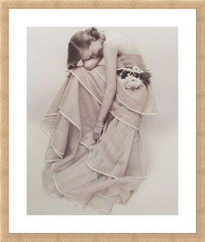 Framed Framed Tiered Evening Dress, March 1951 - Norman Parkinson