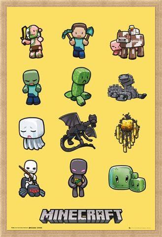 Framed Framed Minecraft Characters - Minecraft