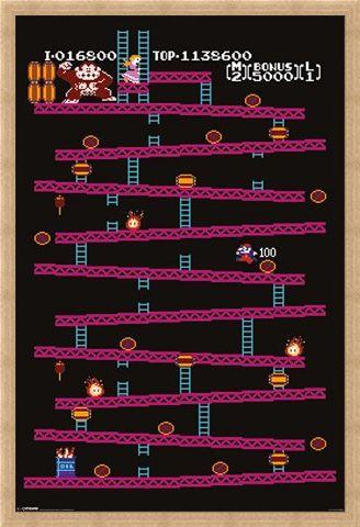 Framed Framed Donkey Kong - Retro Gaming
