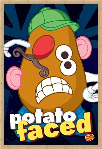 Framed Framed Potato Faced - Mr Potato Head