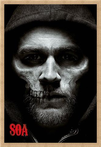Framed Framed Jax Skull - Sons of Anarchy