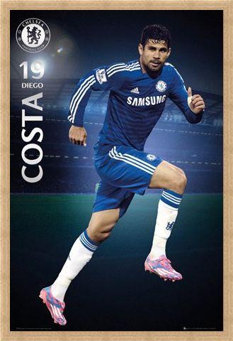 Framed Framed Diego Costa - Chelsea Football Club