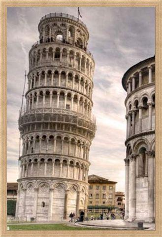 Framed Framed Italy's Finest - The Leaning Tower Of Pisa