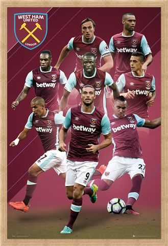 Framed Framed 2016/17 Players - West Ham FC