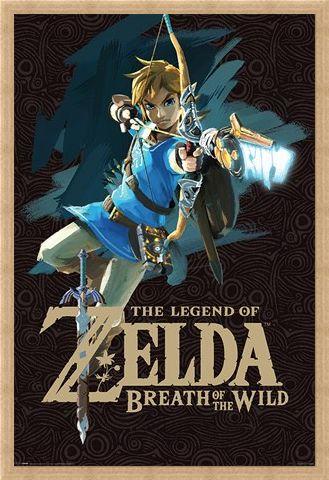 Framed Framed Breath Of The Wild Cover Art - The Legend Of Zelda
