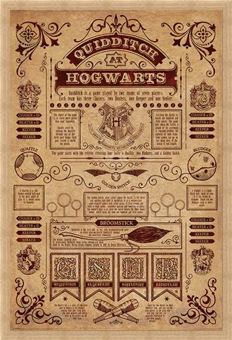 Framed Framed Quidditch At Hogwarts - Harry Potter
