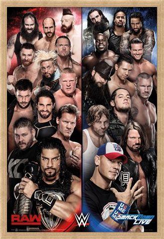 Framed Framed Raw vs Smackdown - WWE