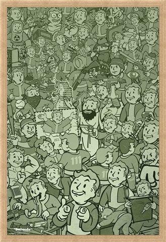 Framed Framed Vault Boy Compilation - Fallout