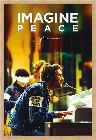 Framed Framed People For Peace - John Lennon