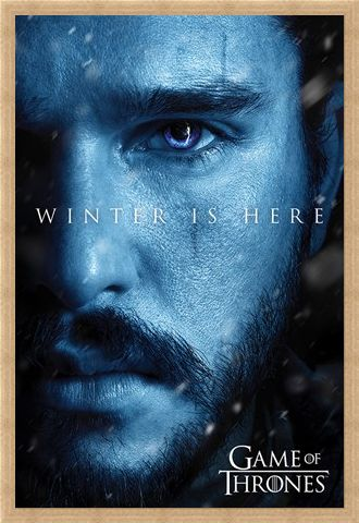Framed Framed Winter Is Here Jon - Game Of Thrones