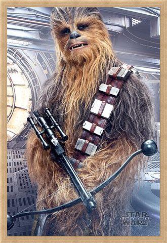 Framed Framed Chewbacca Bowcaster - Star Wars The Last Jedi