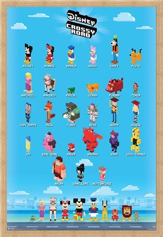Framed Framed Crossy Characters - Disney Crossy Road