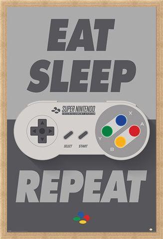 Framed Framed SNES Controller - Nintendo