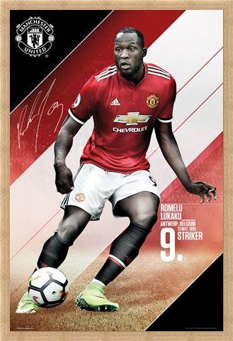 Framed Framed Manchester United 17-18 - Romelu Lukaku