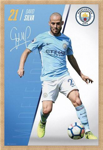 Framed Framed Silva 17-18 - Manchester City