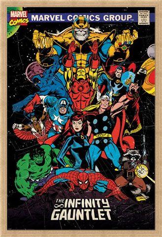 Framed Framed The Infinity Gauntlet Retro - Marvel
