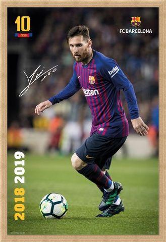 Framed Framed Messi 18-19 - Barcelona FC