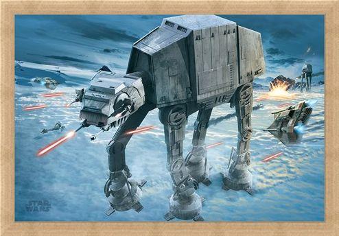 Framed Framed AT-AT Attack - Star Wars