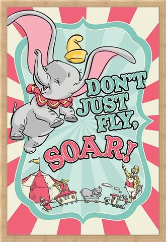 Framed Framed Don't Just Fly, Soar! - Dumbo