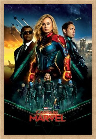 Framed Framed Epic - Captain Marvel