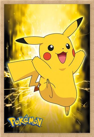 Framed Framed Pikachu Neon - Pokemon