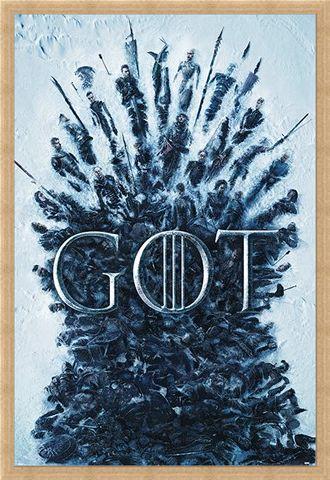Framed Framed Throne Of The Dead - Game Of Thrones