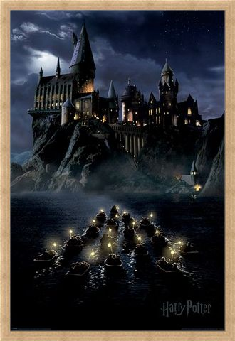 Framed Framed Hogwarts Boats - Harry Potter