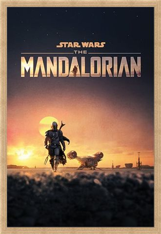 Framed Framed The Mandalorian Dusk - Star Wars