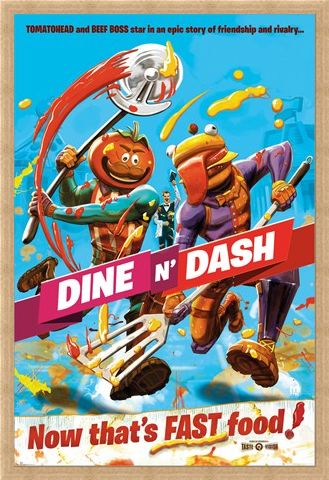 Framed Framed Dine N Dash - Fortnite