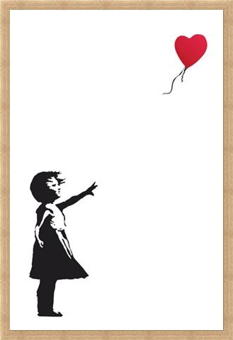 Framed Framed Balloon Girl - Banksy