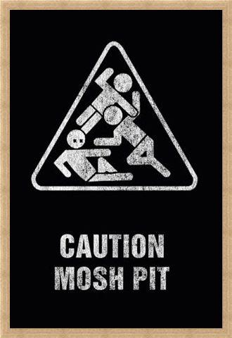 Framed Framed Mosh Pit - Art Worx