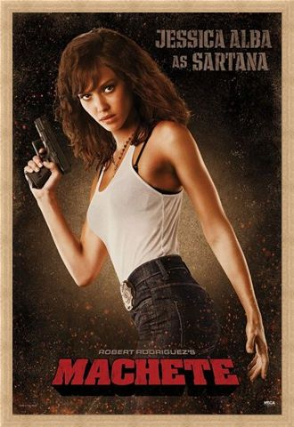 Framed Framed Jessica Alba is Sartana - Machete