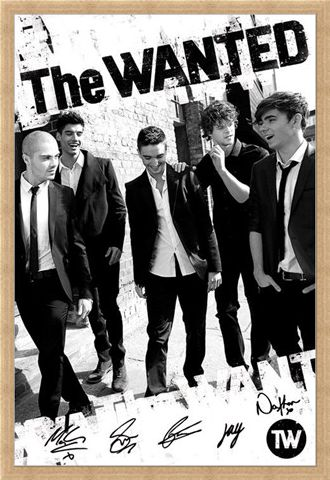 Framed Framed Boys in Black and White - The Wanted