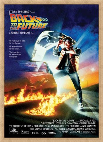 Framed Framed Back to the Future Movie Score - Back to the Future