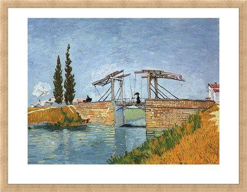 Framed Framed The Langlois Bridge - Vincent Van Gogh