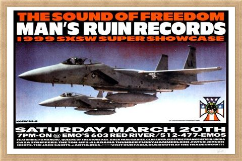 Framed Framed Man's Ruin Records 1999 SXSW Showcase - Frank Kozik