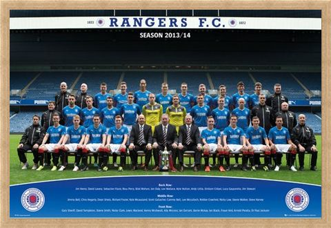 Framed Framed Team Photo 2013/14 - Rangers Football Club