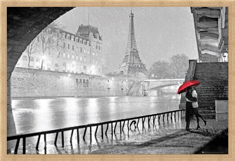 Framed Framed Parisian Kiss - Paris