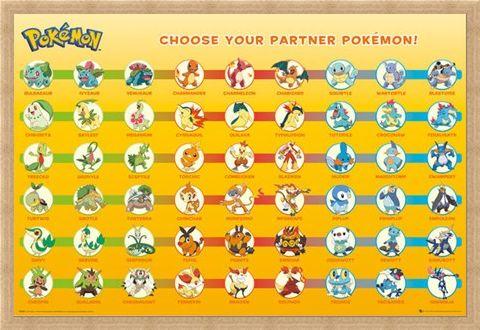 Framed Framed Patner Pokemon - Nintendo's Pokemon